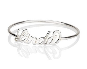 Personalized Name Ring in Sterling Silver • Custom Name Ring • Up to 20 Letters • MOTHER'S GIFT RM02F09