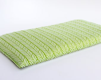 Corn bag heating pad - Heat pack - Natural pain relief - Hot and cold therapy - Heat pad - Corn heating pad - large size - green herringbone
