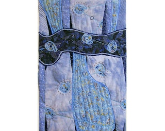 Abstract Art Quilt, Fabric Wall Hanging, Fiber Art, Cosmic Connections