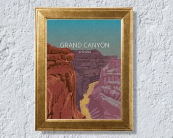 Grand Canyon,Arizona, Illustration, Digital Download Printable, Image For Wall Decoration, Prints
