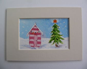 Beach Hut Christmas, Art Cards, Editions & Collectables, Christmas Tree, Beach Huts,