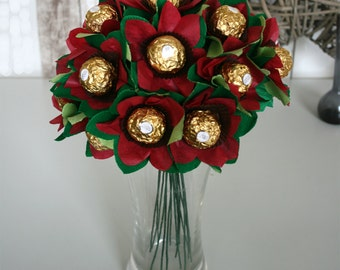 The Edible Posie. Bouquet of Ferrero Rocher Chocolates. Perfect Easter gift. Chocolate lover present.