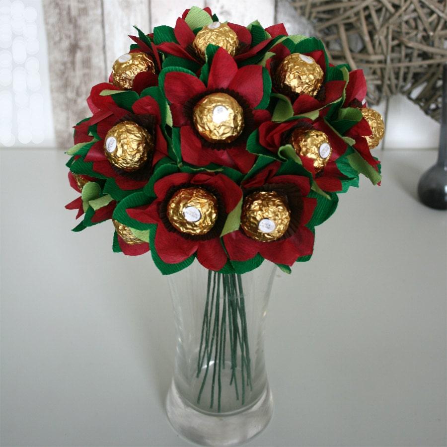The edible posie bouquet of ferrero rocher chocolates zoom izmirmasajfo Images