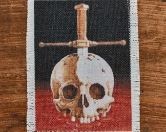 See You In Hell handmade canvas patch