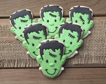 Halloween Party Favors / Halloween Cookies / Halloween Favors / Frankenstein Favors / Frankenstein Sugar Cookies / Frankenstein Cookies