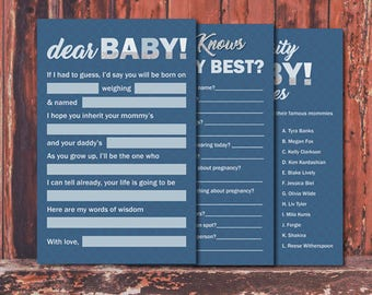 Instant Download Baby Boy Shower Games Suite