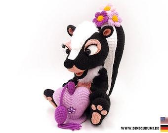 Skunk crochet pattern amigurumi