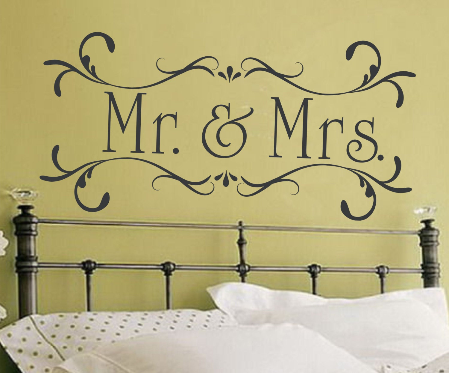 Mr and Mrs Wall Decal Couple Wall Decal Husband and Wife Decal