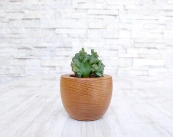 Teak Wood Planter (Tea Cup Shaped)