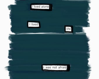 I Lived Life-Blackout Poetry C-Print by Staunch Studio 8x10