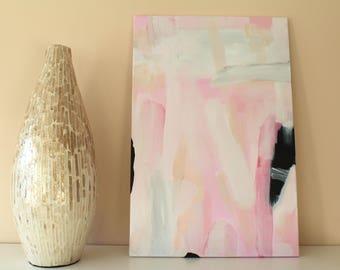 "Acrylic on canvas ""Glam Rose"" 60 x 40 cm Modern Art modern style acrylic original abstract painting on canvas acrylic painting modern"
