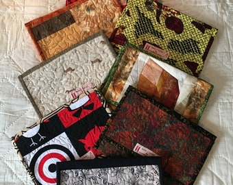IPad Cover - Patchwork, padded and quilted