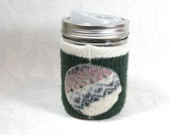 Jar Cozy - pint size - pokadot - green