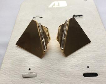 Vintage earrings, golden earrings, orecchinioriginali, stud earrings, elegant earrings