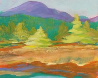 Valley Morning 13 original landscape oil painting