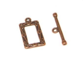 20 x 12mm Copper Toggle Clasp