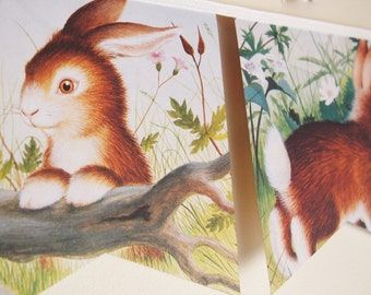 Home for a Bunny - Little Golden Book Bunting.