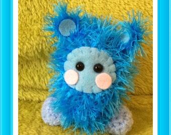 Crochet fluffy monster