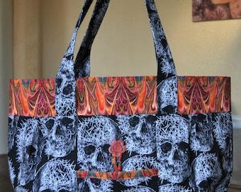 Freak Out Skulls Kaleidoscope bag - OOAK