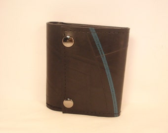 Recycled Rubber Trifold 7 Snap Wallet