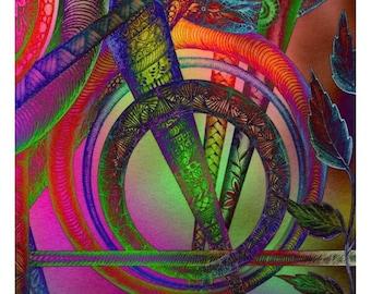 zentangle neon colors