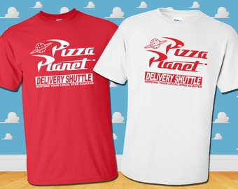 Pizza Planet Delivery Shuttle T-Shirt Disney Toy Story Inspired Tee Mens Womens Kids Sizes Available