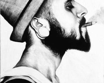 Smoking Man Pirnt
