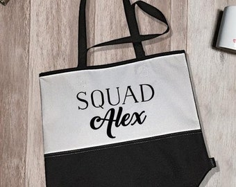 Squad Alex Encore Tote Bag | Bridal Tote Bags | Bridal Party Tote Bags | Bachelorette Tote Bags | Bridal Party Accessory | Bride Tote Bags