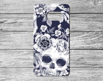 Skulls and Flowers TPU Case For Samsung Galaxy S6, S7, S8 (S491)