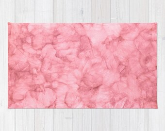 Blush Pink Rug, Light Pink Girls Nursery Rug, Blush Pink Area Rug, Dorm Room Bedroom Rug, Light Pink Watercolor Area Rug, Polyester Rug