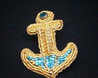 Brooch Gold anchor