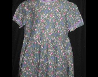 Green Flowered Dress