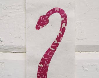 Hot Pink Pit Viper on Cream
