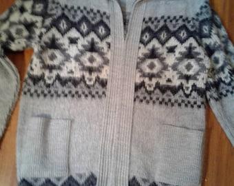 Zippered  sweater