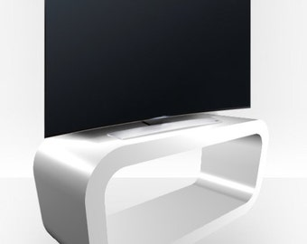 White Gloss TV Stand - Hooptangle