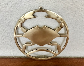 Brass Footed Crab Trivet | Wall Hanging