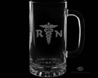 16 Ounce Registered Nurse Personalized Beer Mug