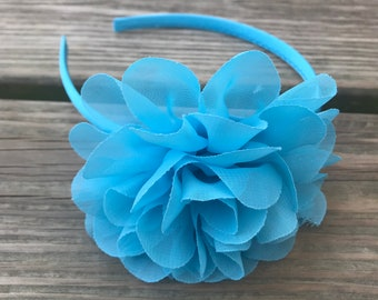 Turquoise Headband - Flower Headband - Toddler Headband - girl headband - Turquoise flower - Turquoise - Summer Headband - hair band