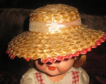 Vintage Straw Hat for a Doll
