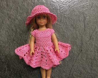 PDF Crochet pattern for 6 inch doll ~ American Girl doll Mini