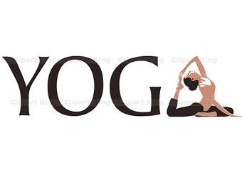 Premium Yoga clipart, vector graphics, digital clip art, digital images