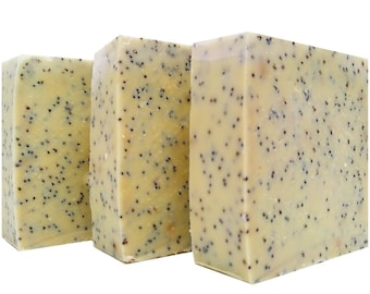 Olive Oil Exfoliating Soap - 4 Simple Ingredients - All Natural Soap - Vegan Soap - Cold Process Soap - Moisturizing Soap - Dry Skin Soap