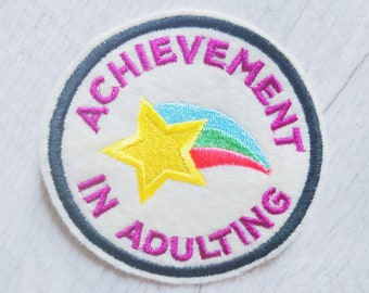 Achievement In Adulting Embroidered Merit Badge Patch