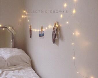 Dorm Decor, Bedroom Decor Tumblr Decor, Fairy Lights, Teen Bedroom Decor,  Gift