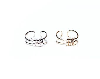 Candice ring - Minimal band ring in gold OR silver