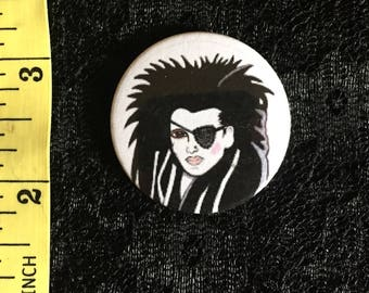 Pete Burns dood of levend / nachtmerries in Wax 80s 38mm pin badge