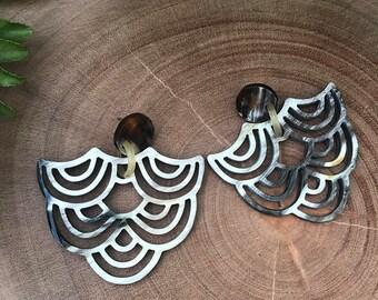 Wave Horn Earrings