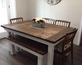 com dark x table dining wood tables stain amazon walnut farmhouse dp solid