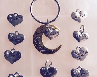 I Love You to the Moon Keychain