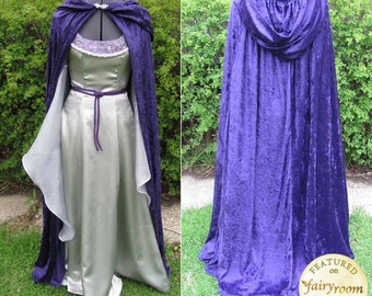 Costume, Adult, Ren Fair, Elvish, LOTR, Faerie, Cosplay Dress with Cape - CUSTOM ORDER